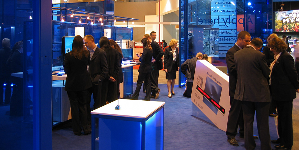 American Express Flagship stand